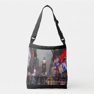Rainy Times Square Crossbody Bag