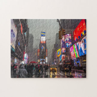 Rainy Times Square Jigsaw Puzzle