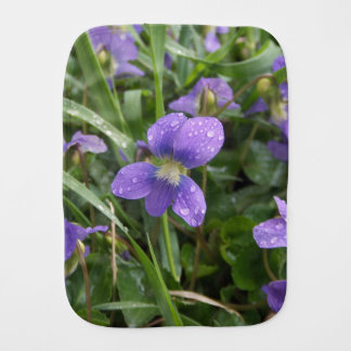 Rainy Violets Burp Cloth
