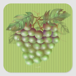 RAISAIN GRAPES  Small, 1½ inch (sheet of 20) Square Sticker