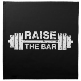 Raise The Bar, Barbell - Gym Workout Inspirational Napkin