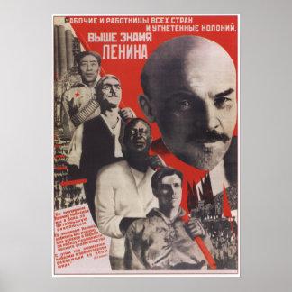 Raise the Lenin Flag Poster