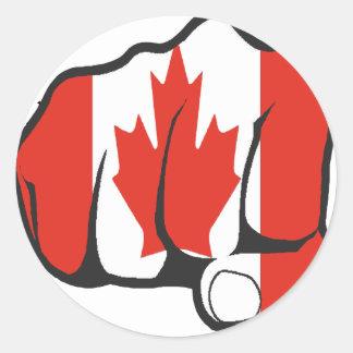 Raise Yer Fist CANADA Round Sticker
