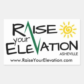 Raise Your Elevation Asheville Rectangle Sticker