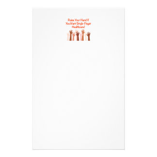 Raise Your Hand for Single-Payer Healthcare Stationery