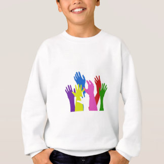 raise your hands to support south africa and socce sweatshirt