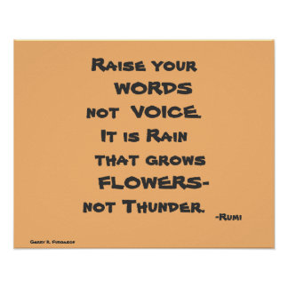 RAISE YOUR WORDS CUSTOM RUMI PRINT