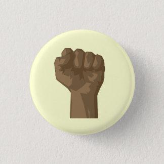 Raised Black Fist 1 Inch Round Button