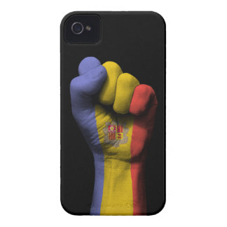 Raised Clenched Fist with Andorra Flag iPhone 4 Case
