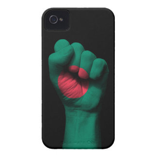 Raised Clenched Fist with Bangladesh Flag iPhone 4 Covers