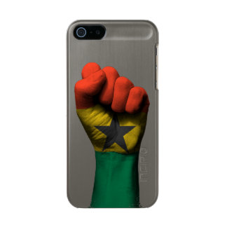 Raised Clenched Fist with Ghana Flag Incipio Feather® Shine iPhone 5 Case