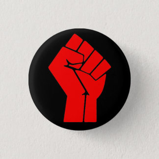 Raised Fist 1 Inch Round Button