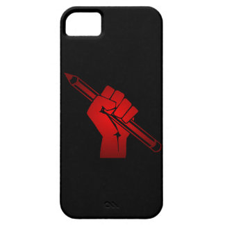 Raised Fist Holding Pencil iPhone 5 Covers