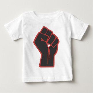 Raised Fist Revolutionary Heart Baby T-Shirt