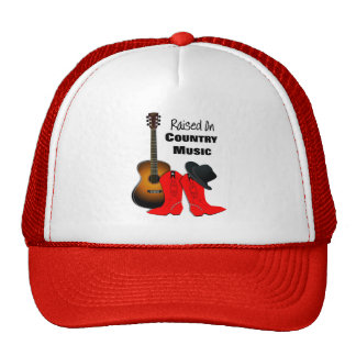 Raised on Country Music Cool Cowgirl Themed Trucker Hat