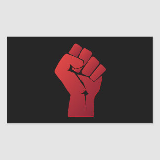 Raised Red Gradient Fist