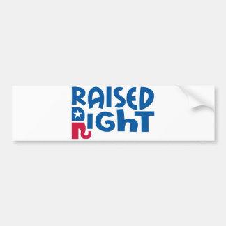 Raised Right Conservative Republican! Bumper Sticker