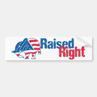Raised Right - Republican Bumper Stickers