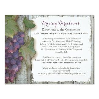 Raisin de vignoble d'établissement vinicole de carton d'invitation 10,79 cm x 13,97 cm