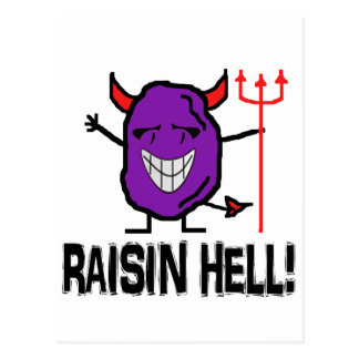 Raisin Hell Postcard