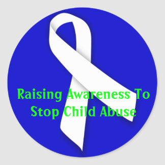 Raising Awareness To Stop Child Abuse Classic Round Sticker