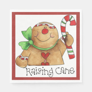 Raising Cane Gingerbread Man Napkin