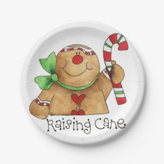 Raising Cane Gingerbread Man Paper Plate
