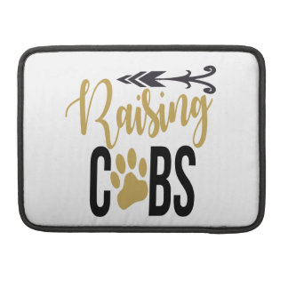 Raising Cubs Black and Gold Sleeve For MacBook Pro