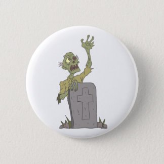 Raising From The Grave Creepy Zombie With Rotting 2 Inch Round Button