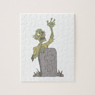 Raising From The Grave Creepy Zombie With Rotting Jigsaw Puzzle