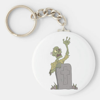 Raising From The Grave Creepy Zombie With Rotting Keychain