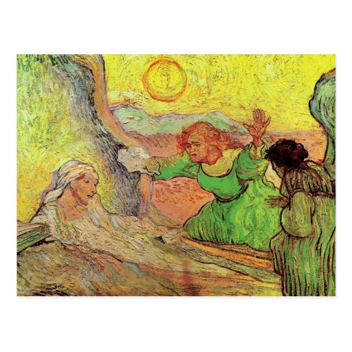 Raising of Lazarus after Rembrandt by van Gogh Post Card