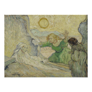 Raising of Lazarus after Rembrandt by Van Gogh Perfect Poster