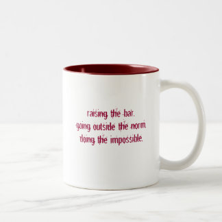 Raising the Bar Mug White/Red