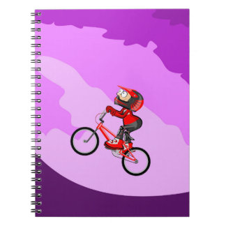 Raising the mountain in your bicycle BMX Notebook