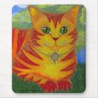 Rajah Golden Gold Sun Cat Fantasy Art Mousepad