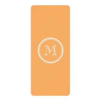 "Rajah High End Colored Monogram Initial 4"" X 9.25"" Invitation Card"