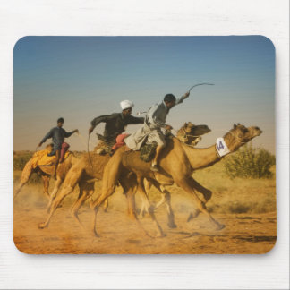 Rajasthan, India camel races in the Thar Desert Mouse Pad