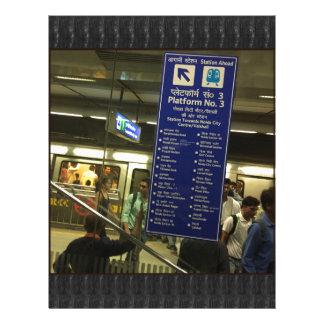 Rajiv Chowk New Delhi Metro Indian Railways Pride Letterhead