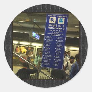 Rajiv Chowk New Delhi Metro Indian Railways Pride Round Sticker