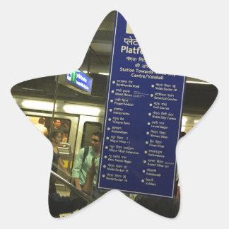 Rajiv Chowk New Delhi Metro Indian Railways Pride Star Sticker