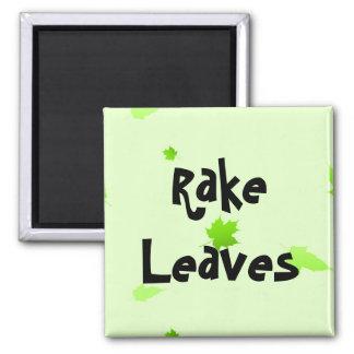 Rake Leaves Square Magnet