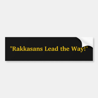 """Rakkasans Lead the Way!"" Bumper Sticker"