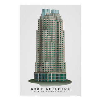 Raleigh BB&T Building Architectural Print