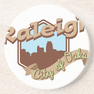 Raleigh City Of Oaks Beverage Coasters