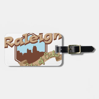 Raleigh City Of Oaks Luggage Tag