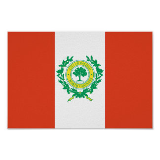 Raleigh, North Carolina Flag Poster