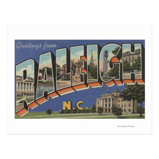Raleigh, North Carolina - Large Letter Scenes 2 Postcard