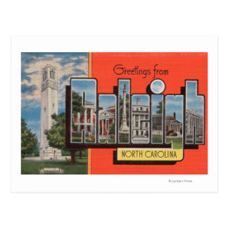 Raleigh, North Carolina - Large Letter Scenes Postcard