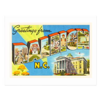 Raleigh North Carolina NC Vintage Travel Postcard- Postcard